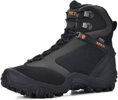 Amazon.com | XPETI Men's Ridge Thermal Mid-Rise Waterproof Hiking Trekking Insulated Outdoor Boot (7) Black | Hiking Boots Black Hiking Boots, Mens Hiking Boots, Men Hiking, Hiking Shoes, Boot Organization, Best Winter Boots, Steel Toe Work Boots, Hunting Boots, Waterproof Hiking Boots