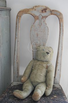 Antique bear Shabby Chic French