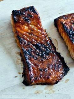 Crispy Bourbon Glazed Salmon How Sweet It Is made this and it was really tasty Will make again Salmon Dishes, Fish Dishes, Seafood Dishes, Salmon Food, Seafood Platter, Bourbon Glazed Salmon, Cooking Recipes, Healthy Recipes, Sweet Recipes