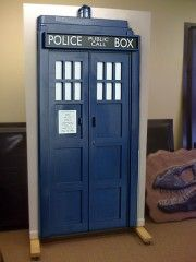Well, sure. Because who wouldn't want a door to the TARDIS in your house?    I am thinking of decorating my door like this when I get back to school