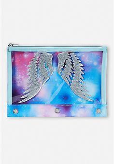 Sparkle Angel Wings Pencil Case