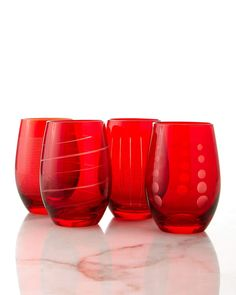 Mikasa Cheers Stemless Wine Glasses, 4-Piece Set