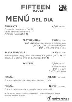 Ven a nuestro #restaurante del #Raval de #Barcelona a disfrutar de nuestros platos de hoy:
