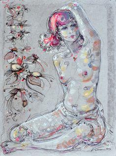 SIMONE 2 - Painting,  60x81 cm ©2014 par Raluca Vulcan -  Peinture, Acrylique