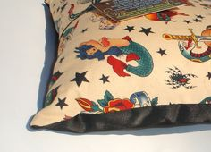 cool old school tattoo pillow
