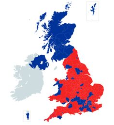 - Brexit: Just a simple Leave (red) or Not leave (blue) map by...
