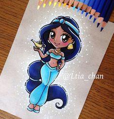 Disney Pencil Drawing - Mara E. Disney Pencil Drawings, Disney Princess Drawings, Disney Princess Art, Disney Sketches, Cartoon Drawings, Easy Drawings, Kawaii Disney, Disney Chibi, Cute Disney