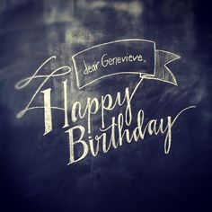 Hand Lettering Happy Birthday
