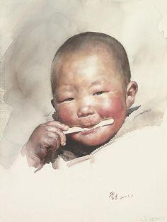 2001 RED APPLE, Liu Yunsheng (aka Yung Sheng or 刘云生) was born in 1937 in Beijing (China) http://www.twwce.com/#!master-exhibition/v12os