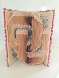 OU Logo  University of Oklahoma Folded Book by ReadingWithScissors