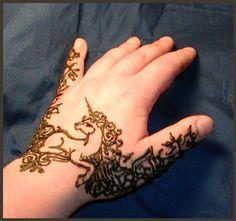 Henna Unicorn by *inkeyling on deviantART