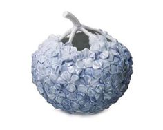 Royal Copenhagen vase light blue hydrangeas