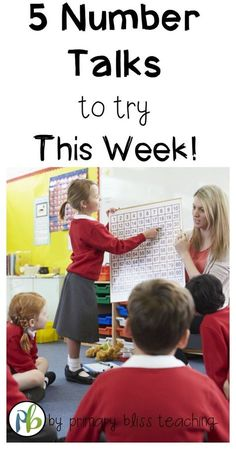 Try these number talk ideas during your math lessons this week! Your students will be will be so engaged!