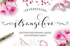 Strangelove - wedding font family by Joanne Marie on /creativemarket/
