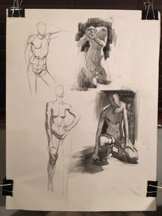 #Quicksketch demo by Ben Young. 5 min poses, draw through the form.