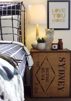 Bedroom Ideas - Monochromatic bedding from KAS