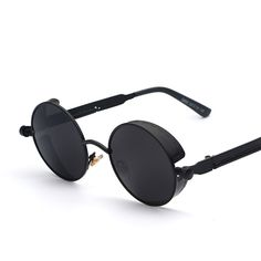 Gothic Steampunk Mens Sunglasses Coating Mirrored Sunglasses Round Circle Sun glasses Retro Vintage Gafas Masculino Sol Check it out! #shop #beauty #Woman's fashion #Products #Classes