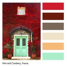 Color Works- Mint & Cranberry color pallet