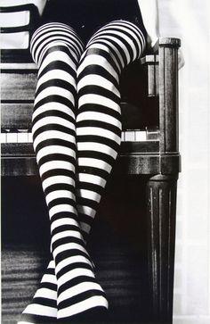 Alice in Wonderland Stripe tights #LOVE