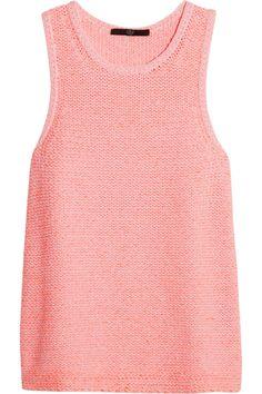 Tibi|Neon heavy-knit cotton-blend top|NET-A-PORTER.COM