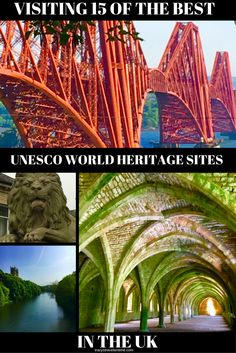 Thinking of visiting some of the many UNESCO World Heritage Sites in the UK? Read about some of the most interesting and beautiful UNESCO sites in the UK - Stonehenge, Durham, Fountains Abbey, Saltaire, Forth Rail Bridge, Orkney, Giants Causeway, Kew Gardens and more... UNESCO World Heritage Sites