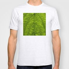 Leaf Green T-shirt by Jinzha Bloodrose - $18.00
