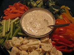 The Gluten Free Budget Crunch: Party Food: Spinach Dip, Ranch Dip, and It's Dairy Free!