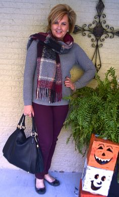 50 IS NOT OLD | SMALL WARDROBE CHALLENGE DAY 3 | Scarf | Football Season | Accessorize | Fashion over 40 for the everyday woman | Shop my closet