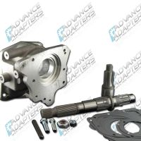 50-0902 : Borg Warner T-10 4 speed (with 2nd design thick hub main shaft) to Jeep Dana 18/20 transfer case, adapter kit.