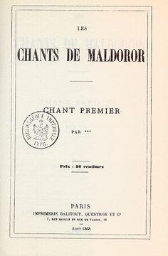 Les Chants de Maldoror - Lautréamont