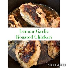Roasted Chicken Breast, Marinated Chicken, Lemon Garlic Chicken, Yummy Eats, Chicken Breasts, Low Carb Recipes, Chicken Recipes, Stuffed Peppers, Dishes