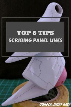 Gunpla tutorial. Gunpla techniques on scribing panel lines part 2.