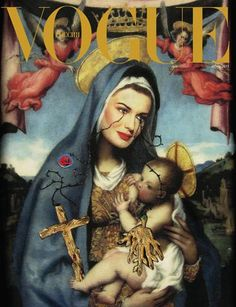 Russian Vogue #saint #iconography