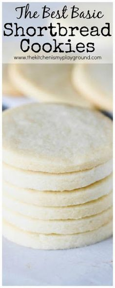 Basic Rolled Shortbread Cookies Recipe ~ tender, rich, buttery-flavored cookies that stand great just as they are, or provide a wonderful canvas for added embellishments like a dip in chocolate or smear of frosting. www.thekitchenismyplayground.com