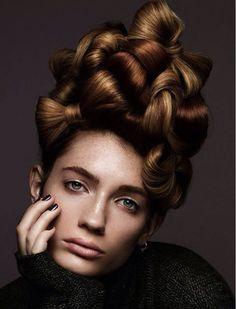 Creative Updo with hairbows Creative Hairstyles, Up Hairstyles, Love Hair, Big Hair, Competition Hair, Avant Garde Hair, Editorial Hair, Natural Hair Styles, Long Hair Styles