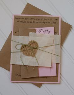 Natural Rustic Wedding Invitations Unique by AnnaLouAvenue on Etsy, $5.75