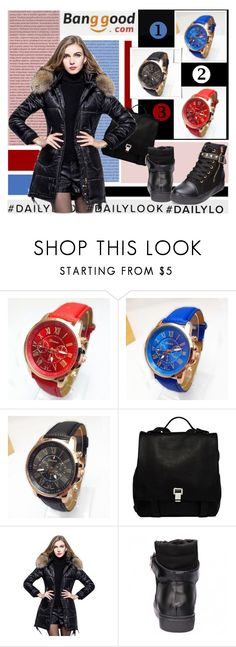 """""""Get The Watch (Banggood)"""" by shambala-379 ❤ liked on Polyvore featuring Oris, Proenza Schouler, casualoutfit, BangGood, Dailylook and GetTheWatch"""