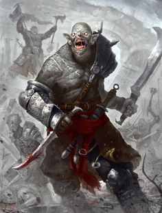 Orcs by PumpkinPie92 #orcs #art #fantasy