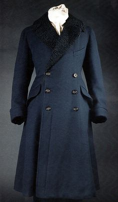 "voxsart: "" Prepare for Foul Weather The navy fur-lined overcoat with Astrakhan collar given to the Prince of Wales (later, of course, the Duke of Windsor) by General Trotter, "" Astrakhan Coat, Royal Fashion, Mens Fashion, Dandy, Fur Collar Coat, Navy Coat, Well Dressed Men, Gentleman Style, Costume Design"