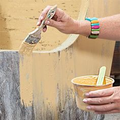 How to Create a Chippy Layered Finish Patina on Furniture, 3 layers of paint Furniture Projects, Furniture Makeover, Diy Furniture, Furniture Refinishing, Milk Paint Furniture, Furniture Buyers, Furniture Repair, Chair Makeover, Vintage Furniture