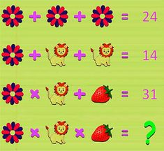 Can you solve this lion math Picture puzzle?