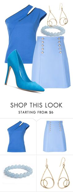 """Shades of Blue"" by faeryrain ❤ liked on Polyvore featuring Thierry Mugler, Gucci and Blue"