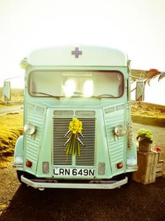 The Little Green Van Company, Plymouth. Pretty 1974 Citroën H Van called Laurent.