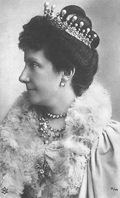 INFANTA MARIA DEL PILAR. Infanta María de la Paz wearing Queen Mercedes' Tiara, Spain (19th c.)