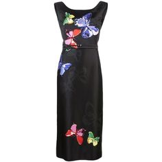 Marc Jacobs Sleeveless Sequin Butterfly Dress ($1,495) ❤ liked on Polyvore featuring dresses, black dress, black shift dress, sleeveless cocktail dress, sleeveless shift dress and black sequin dress
