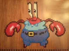 Mr. Krabs perler beads by fefifonom