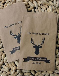 Personalized Favor Bags, Rustic Wedding, Deer Party, Hunting favors, country wedding, by abbey and izzie designs