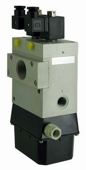 Double 3-way solenoid pilot operated valves