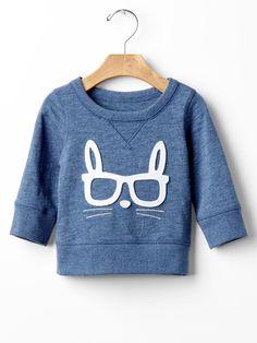 Tavşan detaylı sweatshirt