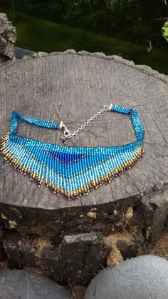 Items similar to fringe necklace, necklace seed bead, choker necklace, Sea Style on Etsy Beaded Choker Necklace, Fringe Necklace, Seed Bead Necklace, Diy Necklace, Necklace Designs, Bead Jewellery, Seed Bead Jewelry, Beaded Jewelry, Seed Beads